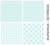 Stock vector vector set of background patterns pastel tones 267208226