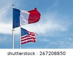 American And French Flags In...