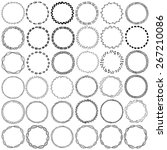 vector frame labels set of 36... | Shutterstock .eps vector #267210086