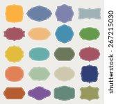 set of  blank vintage frame .... | Shutterstock .eps vector #267215030