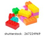 toy colorful plastic blocks... | Shutterstock . vector #267224969