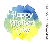 happy mother's day hand drawn... | Shutterstock .eps vector #267226448