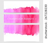 vector horizontal banner set of ... | Shutterstock .eps vector #267228230