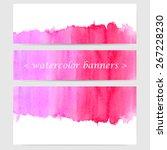 vector horizontal banner set of ... | Shutterstock .eps vector #267228230