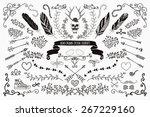 hand drawn doodle floral design ...   Shutterstock . vector #267229160