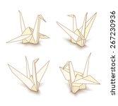 illustration of origami paper... | Shutterstock . vector #267230936