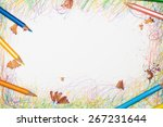 pencils and scribbles and mess... | Shutterstock . vector #267231644