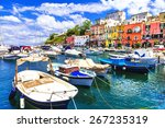 procida  beautiful colorful... | Shutterstock . vector #267235319