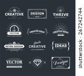 vintage vector design elements. ... | Shutterstock .eps vector #267242744