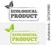 logo or badge  label  logotype...   Shutterstock .eps vector #267243980