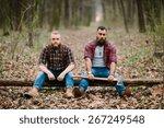 two bearded man | Shutterstock . vector #267249548
