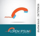 telephone icon logo   Shutterstock .eps vector #267250616