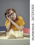 tired student | Shutterstock . vector #267251303