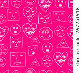 funny smile seamless pattern   Shutterstock .eps vector #267251918