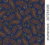 paisley pattern | Shutterstock .eps vector #267253100