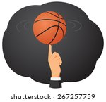 businessman hand is spinning a... | Shutterstock .eps vector #267257759