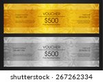 luxury golden and silver... | Shutterstock .eps vector #267262334
