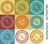 set of ethnic round frames | Shutterstock .eps vector #267263780