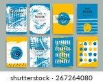 set of trendy posters with hand ... | Shutterstock .eps vector #267264080