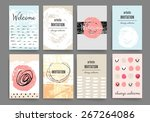 set of trendy posters with hand ...   Shutterstock .eps vector #267264086