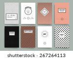 vintage creative cards. hipster ... | Shutterstock .eps vector #267264113