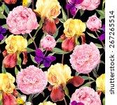 Seamless Floral Pattern. Peony...