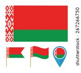 belarus  icons for design with... | Shutterstock .eps vector #267266750