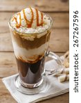 iced coffee with milk and... | Shutterstock . vector #267267596