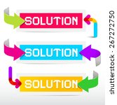 solution colorful stickers  ... | Shutterstock . vector #267272750