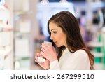 portrait of a woman shopping in ... | Shutterstock . vector #267299510