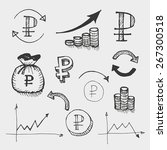 graphic drawn icons for use in... | Shutterstock .eps vector #267300518