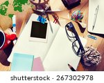 designer desk architectural...   Shutterstock . vector #267302978