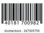 bar code merchandise price tag...