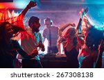 group of dancing friends... | Shutterstock . vector #267308138