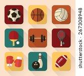 sport equipment   icon vector... | Shutterstock .eps vector #267308948