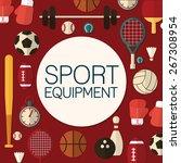 sport equipment   background... | Shutterstock .eps vector #267308954