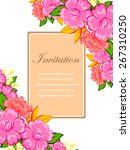 invitation with floral... | Shutterstock .eps vector #267310250