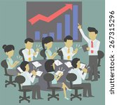 the conference and the success... | Shutterstock .eps vector #267315296