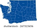 washington map   Shutterstock .eps vector #267315656