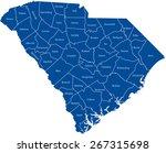 south carolina map | Shutterstock .eps vector #267315698