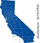 california map | Shutterstock .eps vector #267317924