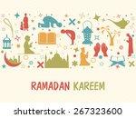 illustration of islamic... | Shutterstock .eps vector #267323600