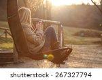 girl on the swing | Shutterstock . vector #267327794