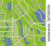 city map seamless pattern.... | Shutterstock .eps vector #267330554