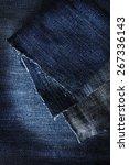 Blue Denim Jeans Fabric Macro ...