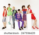 young elegant fashion models... | Shutterstock . vector #267336620