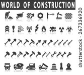 vector construction icons on... | Shutterstock .eps vector #267336920