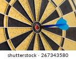 success hitting target aim goal ... | Shutterstock . vector #267343580