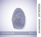 fingerprint vector icon   dark... | Shutterstock .eps vector #267345056