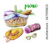 picnic set | Shutterstock .eps vector #267350813